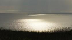 Zelten an der Steilküste vor Mariupol