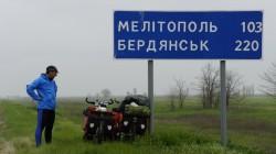Kurze Pause auf dem Weg nach Melitopol