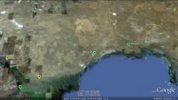 Strecke der Ultratour von Astrachan nach Saghyz