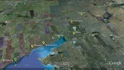 Ultratour Strecke von Berdians'k nach Wolgograd