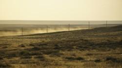 Steppenlandschaft wenige Kilometer hinter Emba