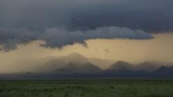 Gewitterwolken im Abendlicht
