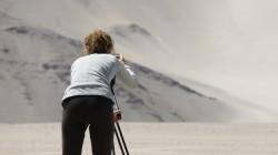 Filmen unter härtesten Bedingungen - der Staub setzt den Kameras extrem zu