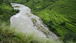 Reisterrassen und reißende Flüsse in Nepal